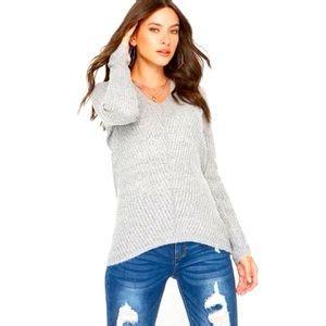 Urban Heritage Light Grey V-Neck Sweater